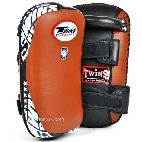 Twins KPL-10 Curved Thai Kick Pads - Brown